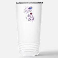 Blue Baseball Cap Bride Travel Mug