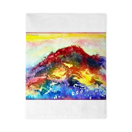 seascape, bright, art, Twin Duvet