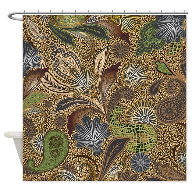 Paisley Animal Print Shower Curtain By Getyergoat