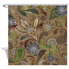 Paisley Animal Print Shower Curtain