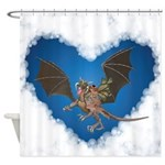 Dragon and Faerie Shower Curtain