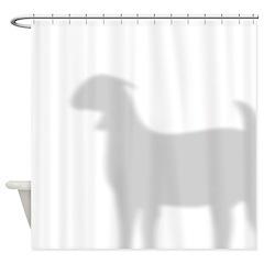 Boer Goat Shower Curtain