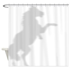Horse Rearing Shower Curtain