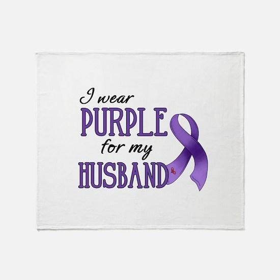 Wear Purple - Husband Throw Blanket