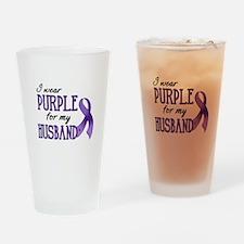 Wear Purple - Husband Drinking Glass