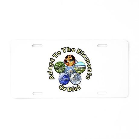 Adapt or Die Aluminum License Plate