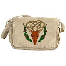 Cute Celtic reindeer Messenger Bag