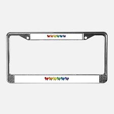 Pride Butterflies License Plate Frame