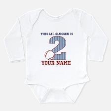 2nd Birthday Baseball Long Sleeve Infant Bodysuit