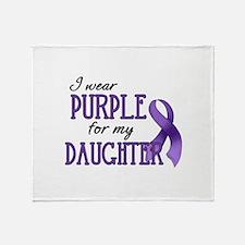 Wear Purple - Daughter Throw Blanket