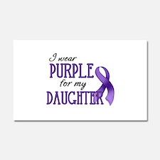 Wear Purple - Daughter Car Magnet 20 x 12