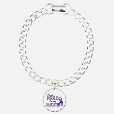 Wear Purple - Daughter Charm Bracelet, One Charm