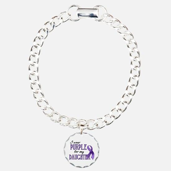 Wear Purple - Daughter Charm Bracelet, One Charm