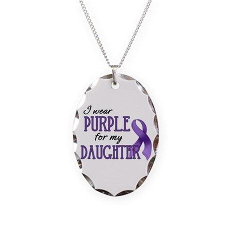 Wear Purple - Daughter Necklace Oval Charm