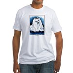 Maltese Dog Fitted T-Shirt