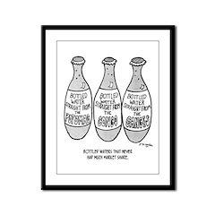 Bottle Water Failures Framed Panel Print
