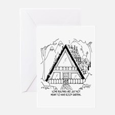 Bad Garden Roof Placement Greeting Card