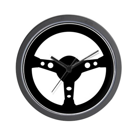Steering wheel car Wall Clock by Topstars