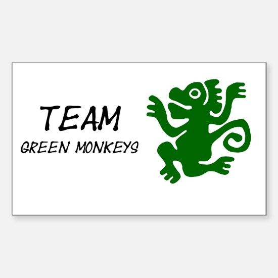 Team Green Monkeys, Sticker (Rectangle)