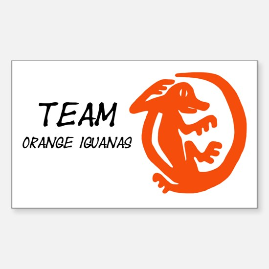 Orange Iguanas, Team Sticker (Rectangle)