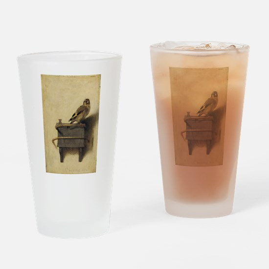Carel Fabritius The Goldfinch Drinking Glass