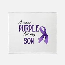 Wear Purple - Son Throw Blanket