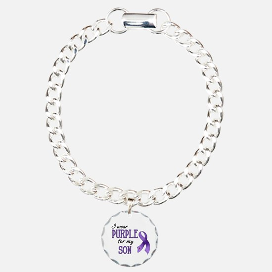 Wear Purple - Son Charm Bracelet, One Charm