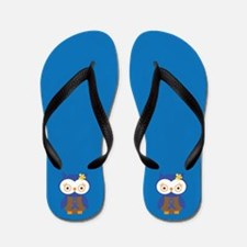 Blue Ribbon Awareness Owl Flip Flops