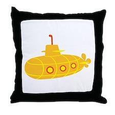 Submarine boat Throw Pillow