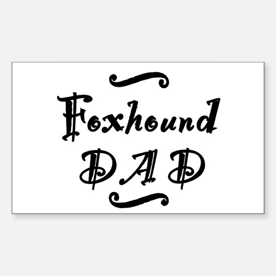 Foxhound DAD Sticker (Rectangle)