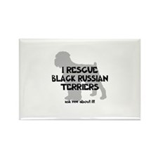 I RESCUE Black Russians Rectangle Magnet