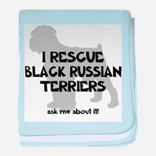I RESCUE Black Russians baby blanket