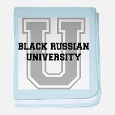 Black Russian UNIVERSITY baby blanket