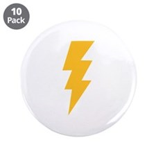 "Yellow Flash Lightning Bolt 3.5"" Button (10 pack)"