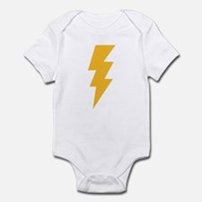 Yellow Flash Lightning Bolt Infant Bodysuit