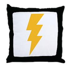 Yellow Flash Lightning Bolt Throw Pillow