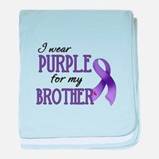 Wear Purple - Brother baby blanket