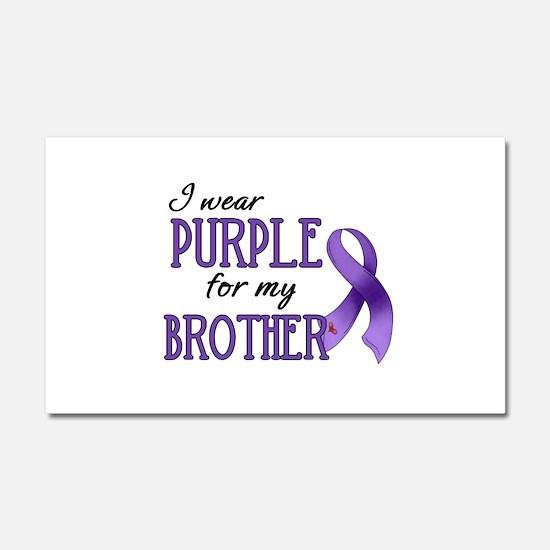 Wear Purple - Brother Car Magnet 20 x 12