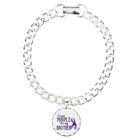 Wear Purple - Brother Charm Bracelet, One Charm