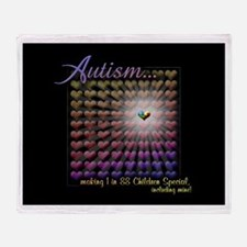Autism - 1 in 88 Special Throw Blanket