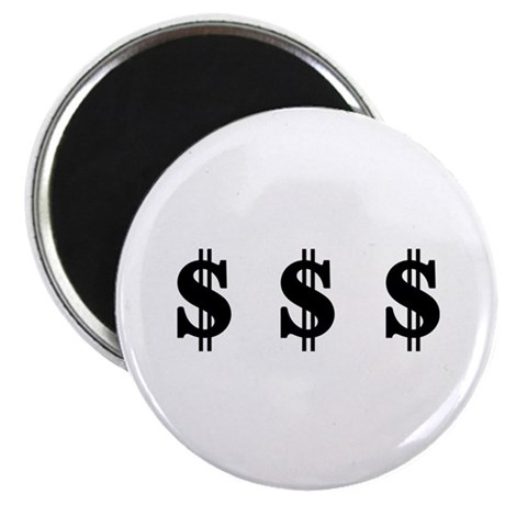 "Dollar signs 2.25"" Magnet (10 pack)"