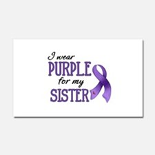 Wear Purple - Sister Car Magnet 20 x 12