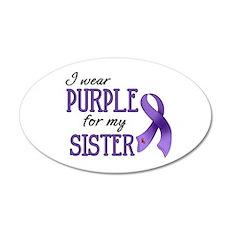 Wear Purple - Sister 22x14 Oval Wall Peel