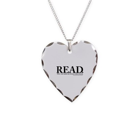 READ. Necklace Heart Charm