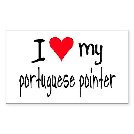 I LOVE MY Portuguese Sticker (Rectangle)