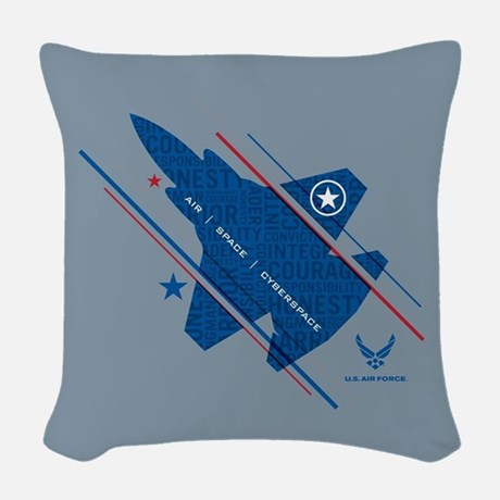 USAF Air Space Cyberspace Throw Pillow Throw Pillow