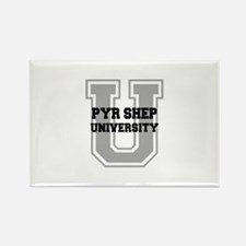 Pyr Shep UNIVERSITY Rectangle Magnet