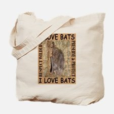 I Love Bats Tote Bag