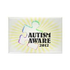 Autism Aware 2012 Rectangle Magnet (100 pack)