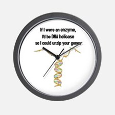 If I were an enzyme, I'd be a DNA helicase Wall Cl